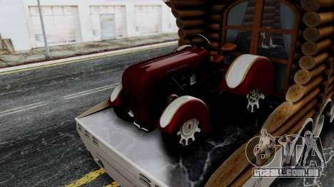 Scania Showtrailer Log Cabin para GTA San Andreas traseira esquerda vista