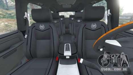 GTA 5 Cadillac Escalade ESV 2012 frente vista lateral direita