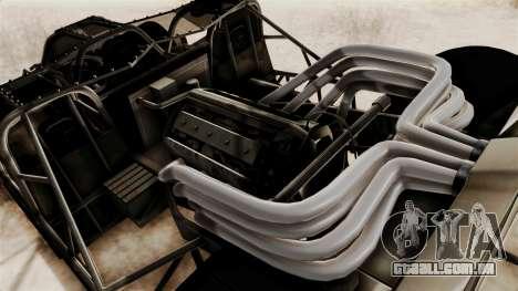 Camo Flip Car para GTA San Andreas vista traseira