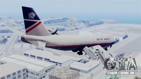 Boeing 747 British Airlines (Landor) para GTA San Andreas esquerda vista