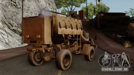 MRAP Buffel from CoD Black Ops 2 para GTA San Andreas esquerda vista