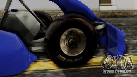 Crash Team Racing Kart para GTA San Andreas traseira esquerda vista
