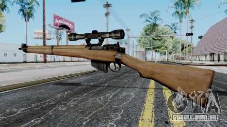 Lee-Enfield No.4 Scope from Battlefield 1942 para GTA San Andreas segunda tela