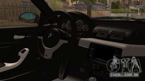 BMW M3 E46 2005 Stock para GTA San Andreas vista direita