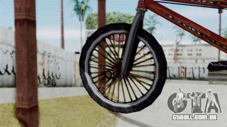 Bike from Bully para GTA San Andreas traseira esquerda vista