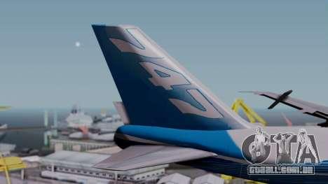 Boeing 747-400 Dreamliner Livery para GTA San Andreas traseira esquerda vista