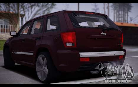 Jeep Grand Cherokee SRT8 2008 para GTA San Andreas vista direita