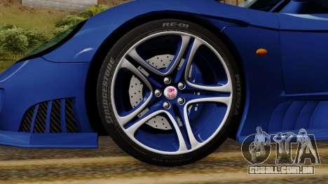 Saleen S7 para GTA San Andreas traseira esquerda vista