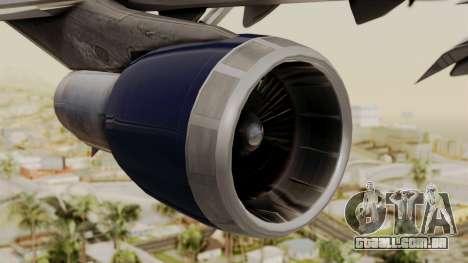 Boeing 747 United Airlines para GTA San Andreas vista direita