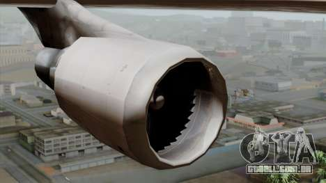 Boeing 747-400 Friendship Tag para GTA San Andreas vista direita