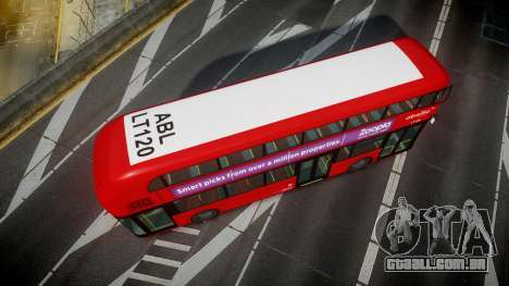 Wrightbus New Routemaster Abellio London para GTA 4 vista direita