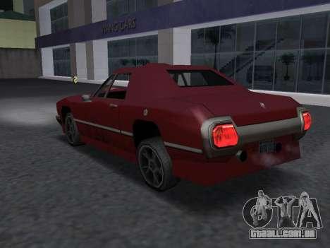 New Stallion para GTA San Andreas vista interior
