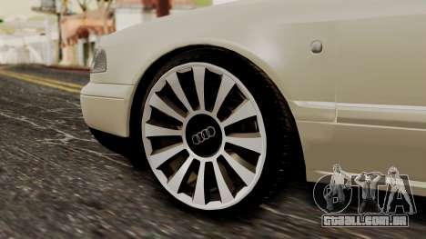 Audi A8 D2 para GTA San Andreas traseira esquerda vista