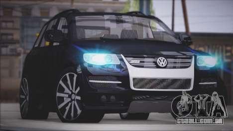 Volkswagen Touareg R50 2008 para GTA San Andreas vista traseira
