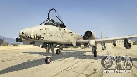A-10A Thunderbolt II 1.1 para GTA 5