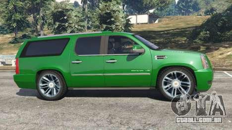 GTA 5 Cadillac Escalade ESV 2012 vista lateral esquerda