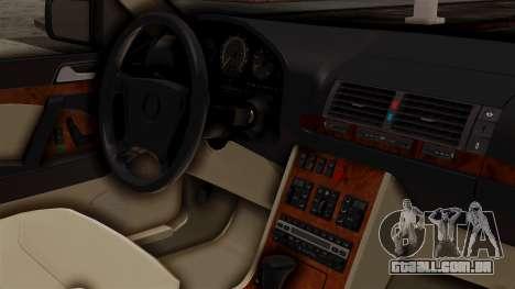 Mercedes-Benz W140 500SE 1992 para GTA San Andreas vista direita