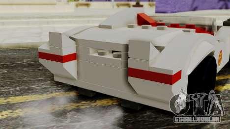 Lego Mach 5 para GTA San Andreas vista traseira