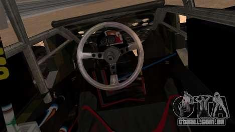 Camo Flip Car para GTA San Andreas traseira esquerda vista