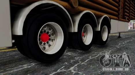 Scania Showtrailer Log Cabin para GTA San Andreas vista direita