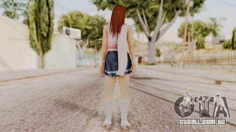 DOA 5 Kasumi Scarfed Frock para GTA San Andreas terceira tela