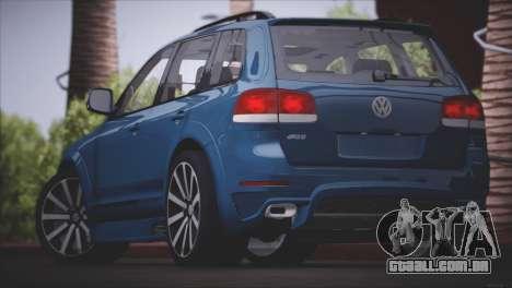 Volkswagen Touareg R50 2008 para GTA San Andreas interior
