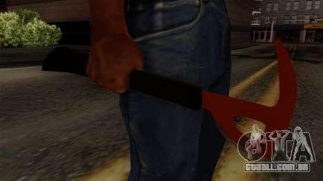 O machado da Floresta para GTA San Andreas