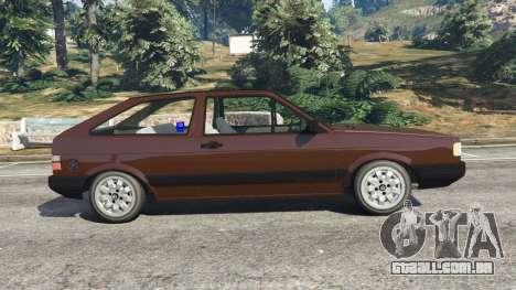 GTA 5 Volkswagen Gol GL 1.8 vista lateral esquerda