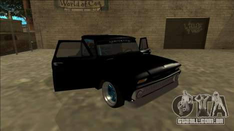 Chevrolet C10 Drift Monster Energy para vista lateral GTA San Andreas