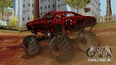 The Batik Big Foot para GTA San Andreas esquerda vista