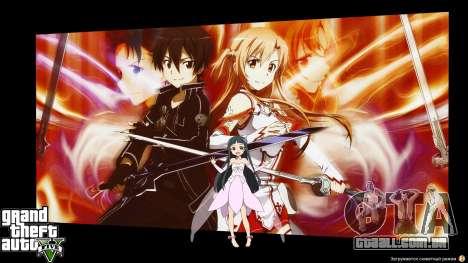 As telas de carregamento são no estilo anime para GTA 5