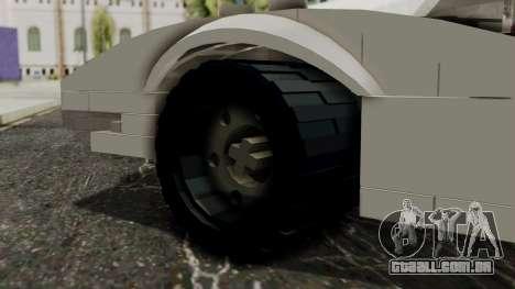 Lego Mach 5 para GTA San Andreas traseira esquerda vista
