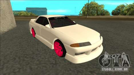 Nissan Skyline R32 Sedan Monster Energy Drift para GTA San Andreas esquerda vista