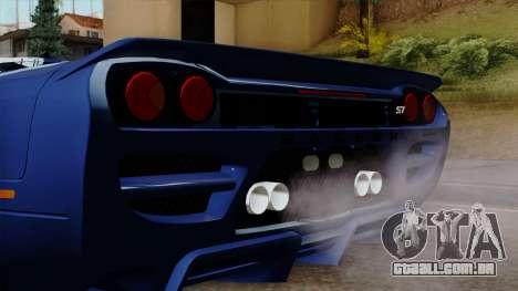 Saleen S7 para GTA San Andreas vista traseira
