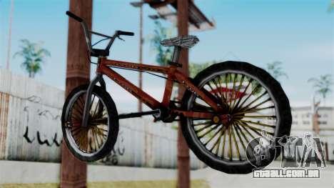 Bike from Bully para GTA San Andreas esquerda vista