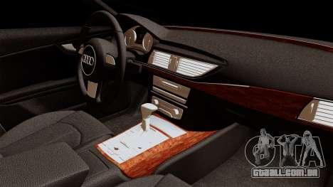 Audi A7 Sportback 2009 para GTA San Andreas vista direita