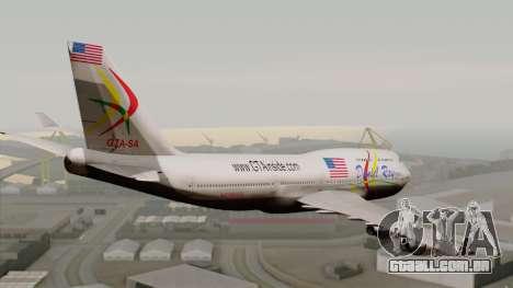 Boeing 747-400 Friendship Tag para GTA San Andreas esquerda vista