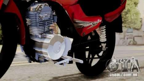Yamaha YBR Imitacion para GTA San Andreas vista traseira