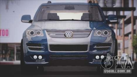 Volkswagen Touareg R50 2008 para GTA San Andreas traseira esquerda vista