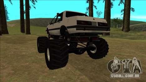 Willard Monster para GTA San Andreas vista traseira