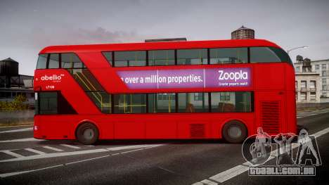 Wrightbus New Routemaster Abellio London para GTA 4 esquerda vista