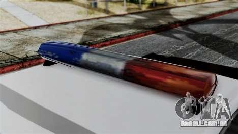 Police Savanna 2.0 para GTA San Andreas traseira esquerda vista
