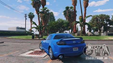 GTA 5 Mazda RX-8 R3 v0.1 traseira vista lateral esquerda