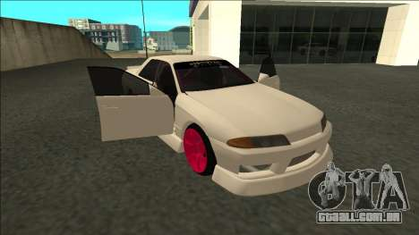 Nissan Skyline R32 Sedan Monster Energy Drift para GTA San Andreas vista traseira