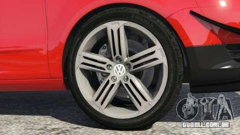 GTA 5 Volkswagen Fox v1.1 traseira direita vista lateral