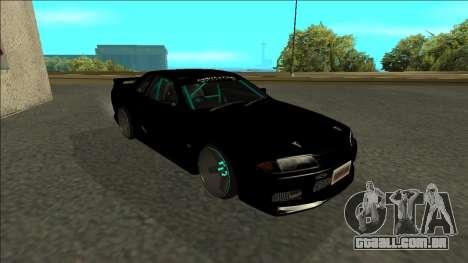 Nissan Skyline R32 Drift Monster Energy para GTA San Andreas esquerda vista