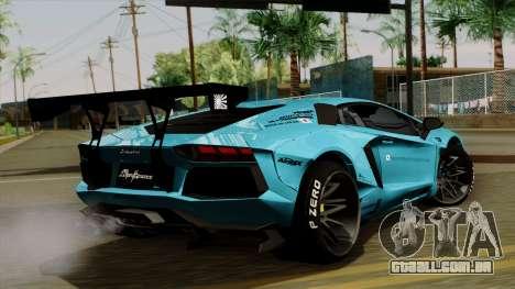 Lamborghini Aventador LB Performance para GTA San Andreas esquerda vista