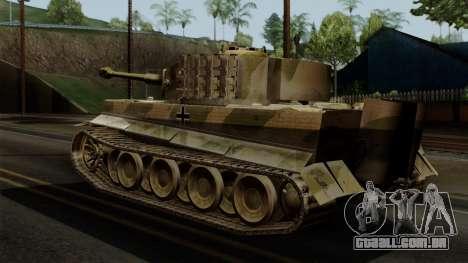 Panzerkampfwagen VI Ausf. E Tiger No Interior para GTA San Andreas esquerda vista