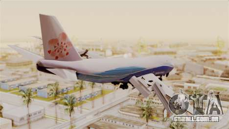 Boeing 747-200 China Airlines Dreamliner para GTA San Andreas esquerda vista
