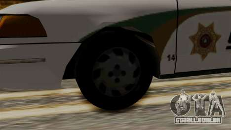 Ford Crown Victoria LP v2 Sheriff New para GTA San Andreas traseira esquerda vista